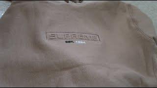 e7dcfcf9377 Supreme SS18 Week 10 Pickup Unboxing Embossed Logo Hooded Sweatshirt ...