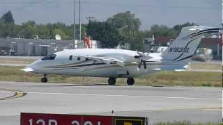 Piaggio P-180 Avanti [N163SL] Takes Off at San Jose International Airport-SJC