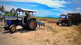 Massey Ferguson 7250 DI Tractor fully loaded stuck&rescue by Swaraj 744 FE Tractor   MF 7250 videos