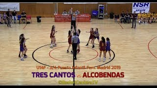 U14F -  CB.TRES CANTOS vs ALCOBENDAS.- 3/4 puesto Fase Final Infantil Madrid 2019 (BasketCantera.TV)