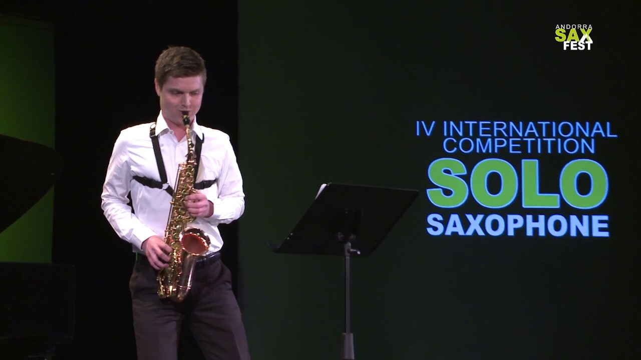 JORDI ROUSCHOP  - FIRST ROUND - IV ANDORRA INTERNATIONAL SAXOPHONE COMPETITION 2017