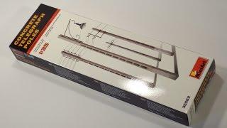 Обзор бетонные телеграфные столбы и фонарь от MiniArt - сборная модель. масштаб 1/35