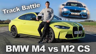 New BMW M4 vs M2 CS TRACK BATTLE and 0-60mph & 1/4 mile RACE!