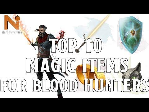 Top 10 D&D 5e Blood Hunter Magic Items | Nerd Immersion