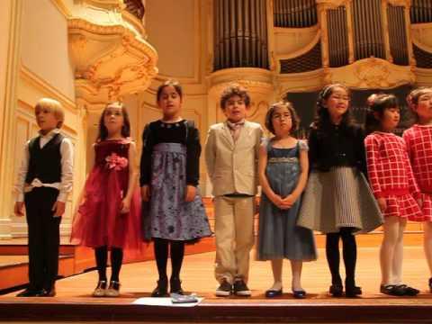 Klara Khomskii, 6 years old  - Finalists of the Steinway Piano Competition - Laeiszhalle, Hamburg