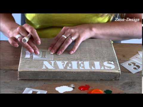 Uitzonderlijk ZUSA-DESIGN | Maak zelf een tekstbord - YouTube @YX26