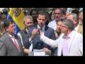 Presidente interino de Venezuela, Juan Guaidó, ofrece una rueda de prens
