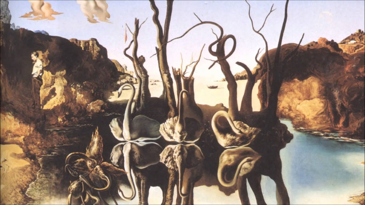 Swans Reflecting Elephants Artist Salvador Dalí Year 1937 Medium Oil on canvas Location Private collection Dimensions 2008 in 3031 in 51 cm 77 cm Famous