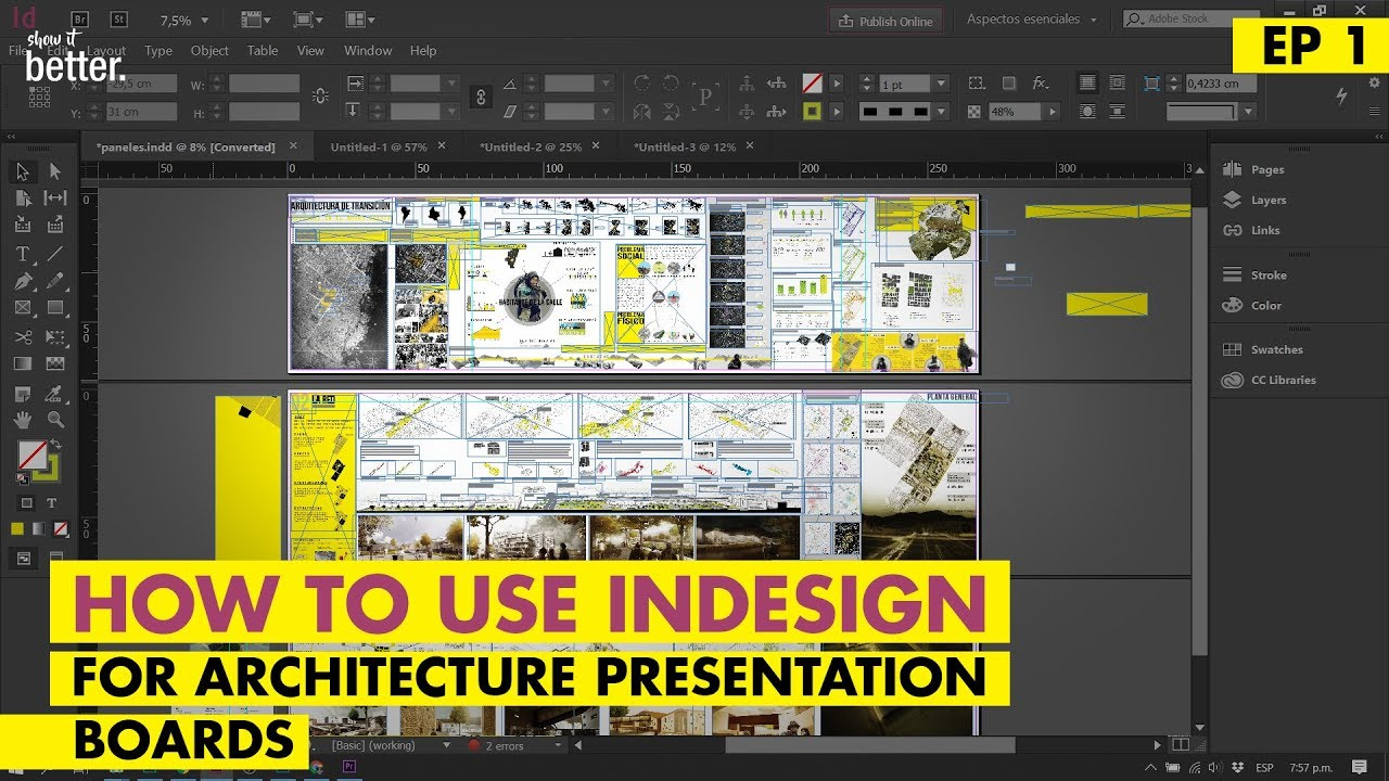 Indesign for your Architecture Presentation Boards - An introduction