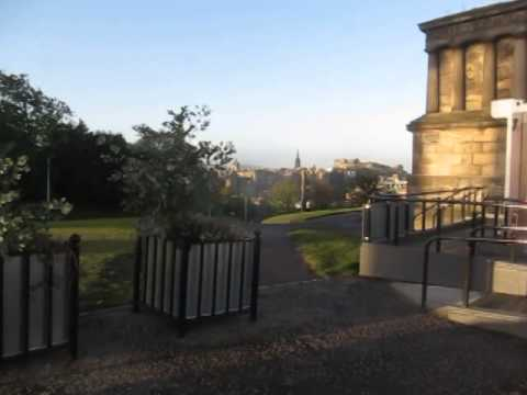 Early morning walk around Calton Hill, Edinburgh Scotland