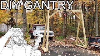 DIY Gantry Crane with Hoist (v2)