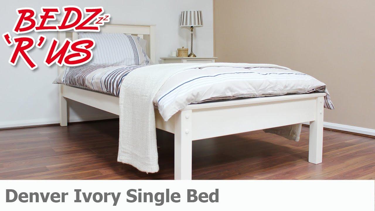 Denver Ivory Single Bed BedzRus