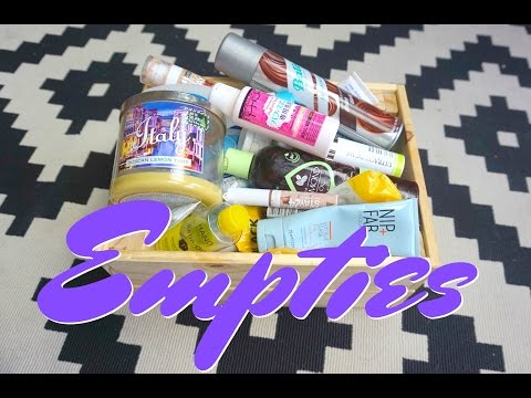 EMPTIES/PRODUCTS I HAVE USED UP - March & April 2017