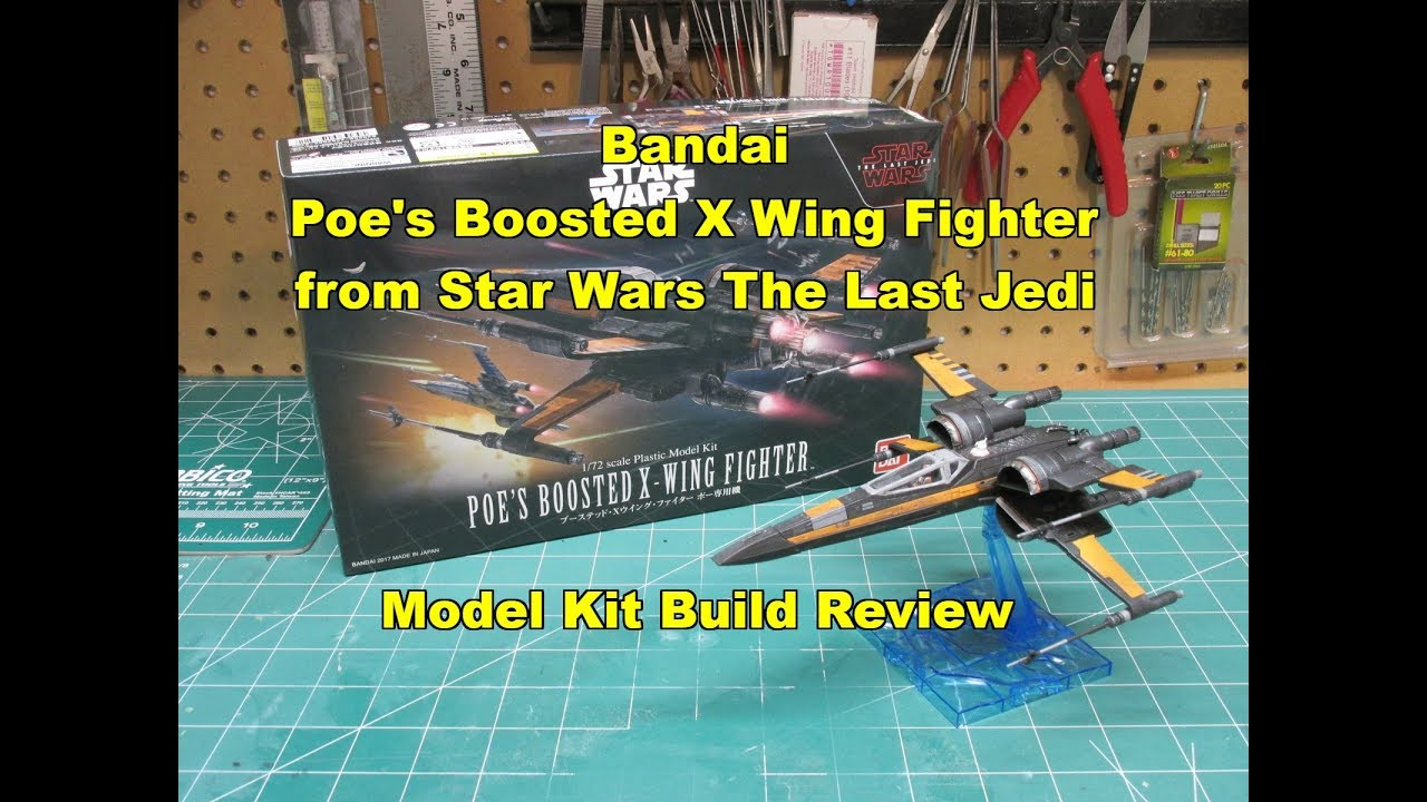 Bandai Star Wars:The Last Jedi Poe Dameron/'s Boosted X-Wing-1:72 Scale Model Kit