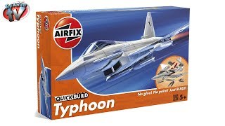 Airfix Quick Build Eurofighter Typhoon Construction Kit Toy Review