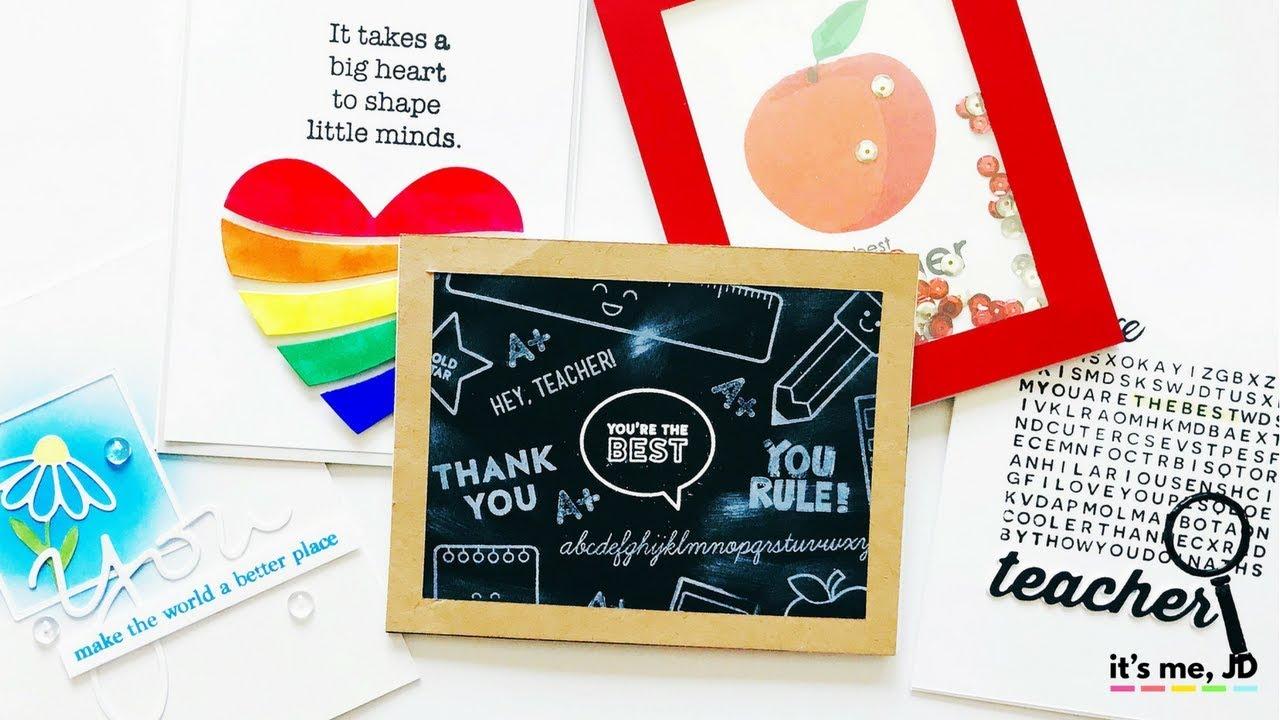 5 handmade card ideas that teachers will love  diy