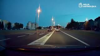 Kierowca audi łamie przepisy ruchu drogowego