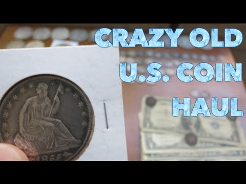 Crazy Old U.S. Silver Coin Haul! Morgans, Large Cents & Barbers, Oh My!