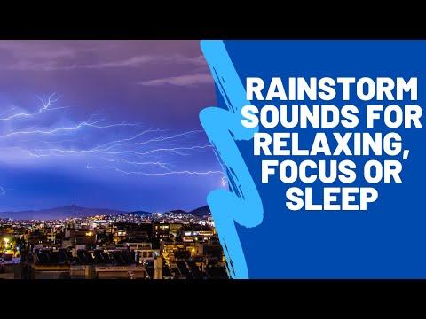 3 Hours THUNDER & RAIN | Rainstorm Sounds For Relaxing, Focus or Sleep | Relaxing Music Hub