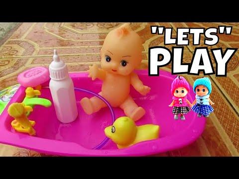 Mainan anak ❤ bermain Adek-adekan Bayi Boneka Mandi Lucu - By Duck ...