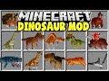 Minecraft DINOSAUR MOD | TRICERATOPS, TREX, STEGOSAURUS, VELOCIRAPTORS & MORE!!