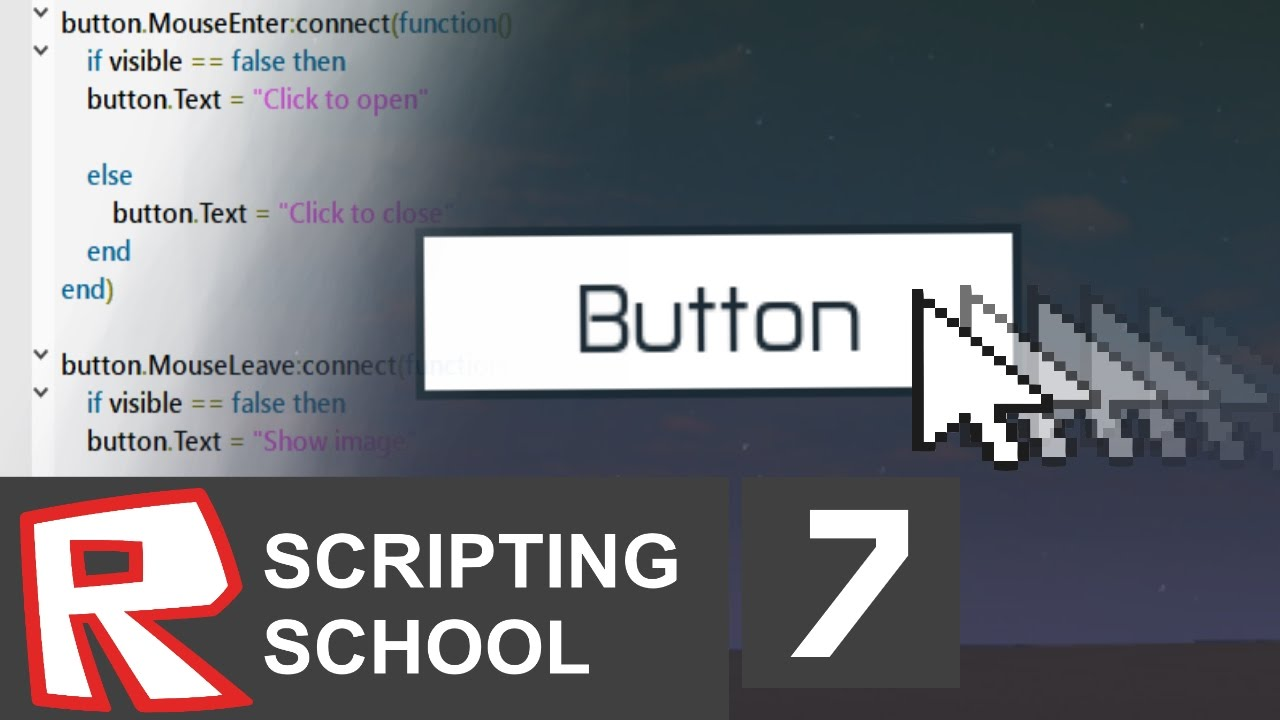[ROBLOX Scripting School 7] - MouseEnter and MouseLeave