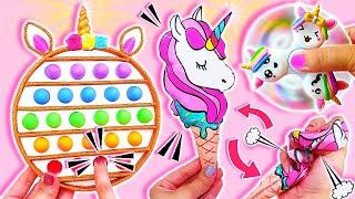 💥🎉🦄DIY: Best UNICORN Fidget Toys Compilation (POP IT, Squishy, Fidget Spinner) VIRAL TikTok fidgets💥