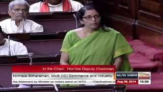Video Smt. Nirmala Sitharaman's reply to the clarifications on India's stand in the WTO download MP3, 3GP, MP4, WEBM, AVI, FLV Juli 2018