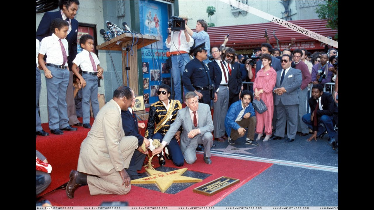michael jackson at the hollywood walk of fame 1984   youtube