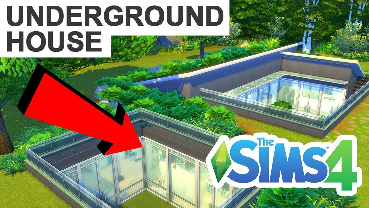 Underground Houses Part - 46: UNDERGROUND HOUSE! [ The Sims 4 House Building ]