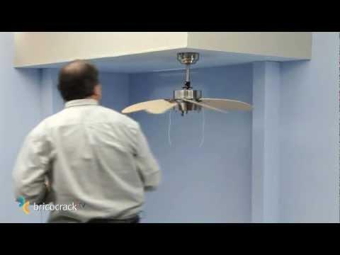 Instalar un ventilador de techo (Bricocrack)