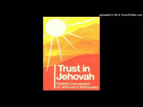 Theodore Jaracz - Facing The Future With Full Trust In Jehovah (1987 Convention)