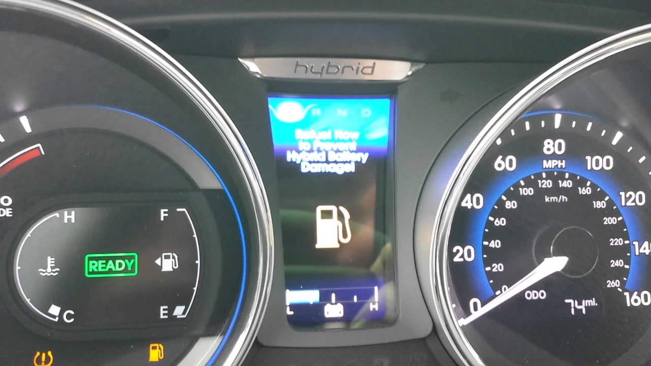 Hyundai Sonata Hybrid Question Why Would Low Fuel Hurt The Batteries