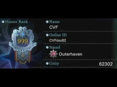 MHW (PS4) ~ Hunter Rank 999 (PSN ID: CVFdez82)