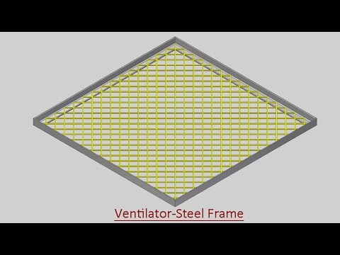 Ventilator-Steel Frame (Video Tutorial) Autodesk Inventor