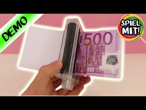 GELD DRUCK MASCHINE - Aus Papier echte Geldscheine machen? Cooler ZAUBERTRICK!