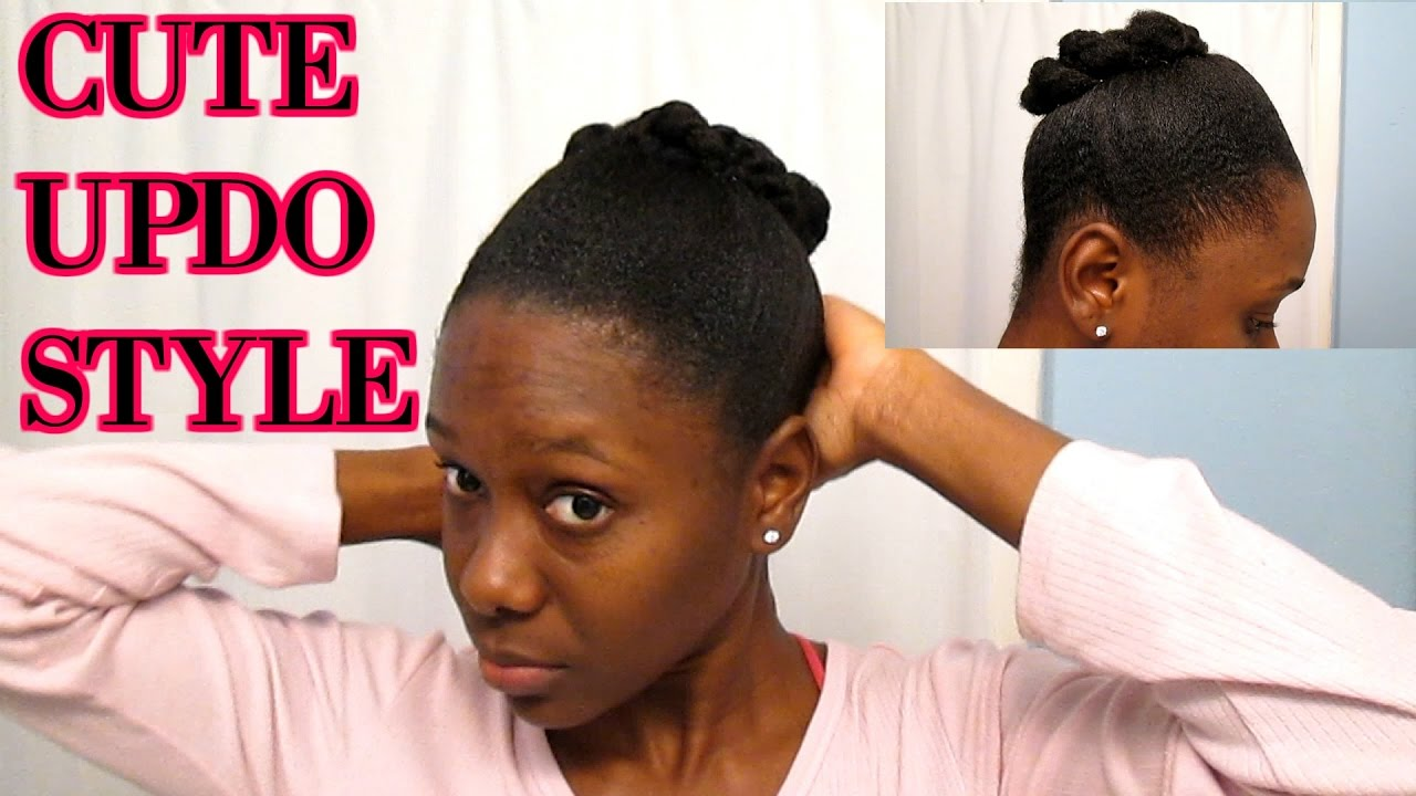 Natural Hairstyle Updo For Short 4c Hair Quick And Easy Style