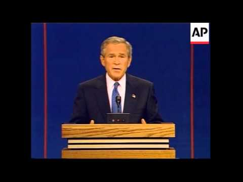 US Presidential Debate: John Kerry and George W. Bush - 2004