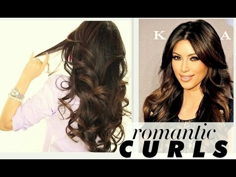 ☆ KIM KARDASHIAN BIG CURLS TUTORIAL | CUTE LONG HAIRSTYLES | HOW ...