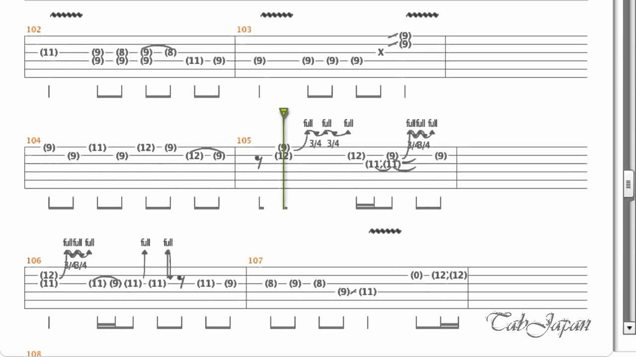 Girls Dead Monster Crow Song Guitar Tab Youtube
