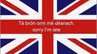 Ceacht Béarla: go raibh maith agat agus leithscéalta