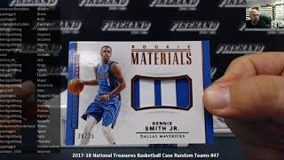 7/16/2018 2017-18 National Treasures Basketball Case Random Teams #47