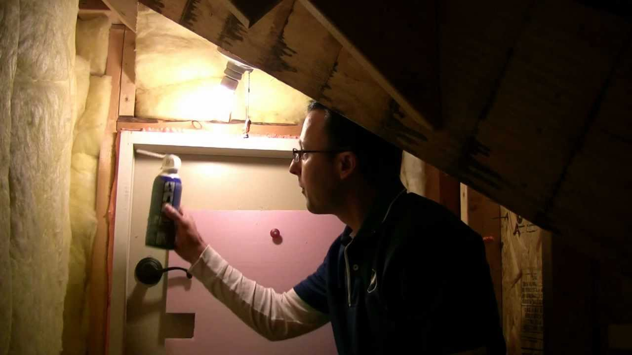 ideas for attic doors - How to stop drafts around attic doors