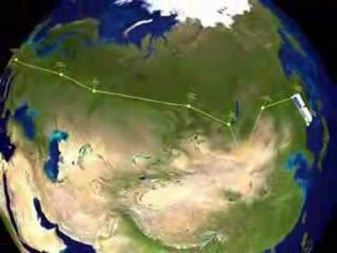 The longest road transports Europe - Far East Asia