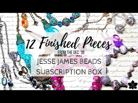 12 Finished Jewelry Pieces Made From the Jesse James Beads Dec  '18 Subscription Box | Project Share