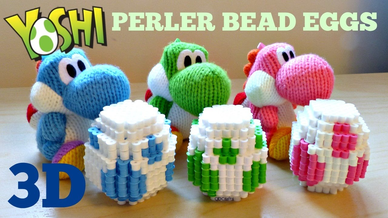 diy 3d perler bead yoshi easter eggs youtube
