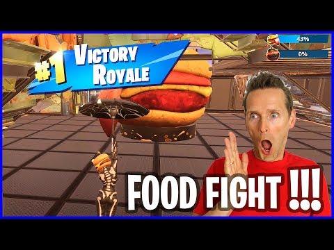 Defend The Burger Mascot And Attack Tomato Mascot, FOOD FIGHT!
