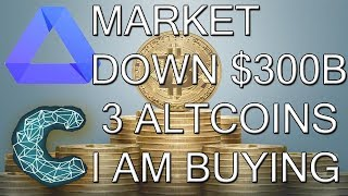 CryptoCurrency Down 300 Billion - I am Buying EOS, ACT, and CND