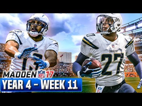 Madden 17 Chargers Franchise Year 4 - Week 11 @ Bengals | Ep.82