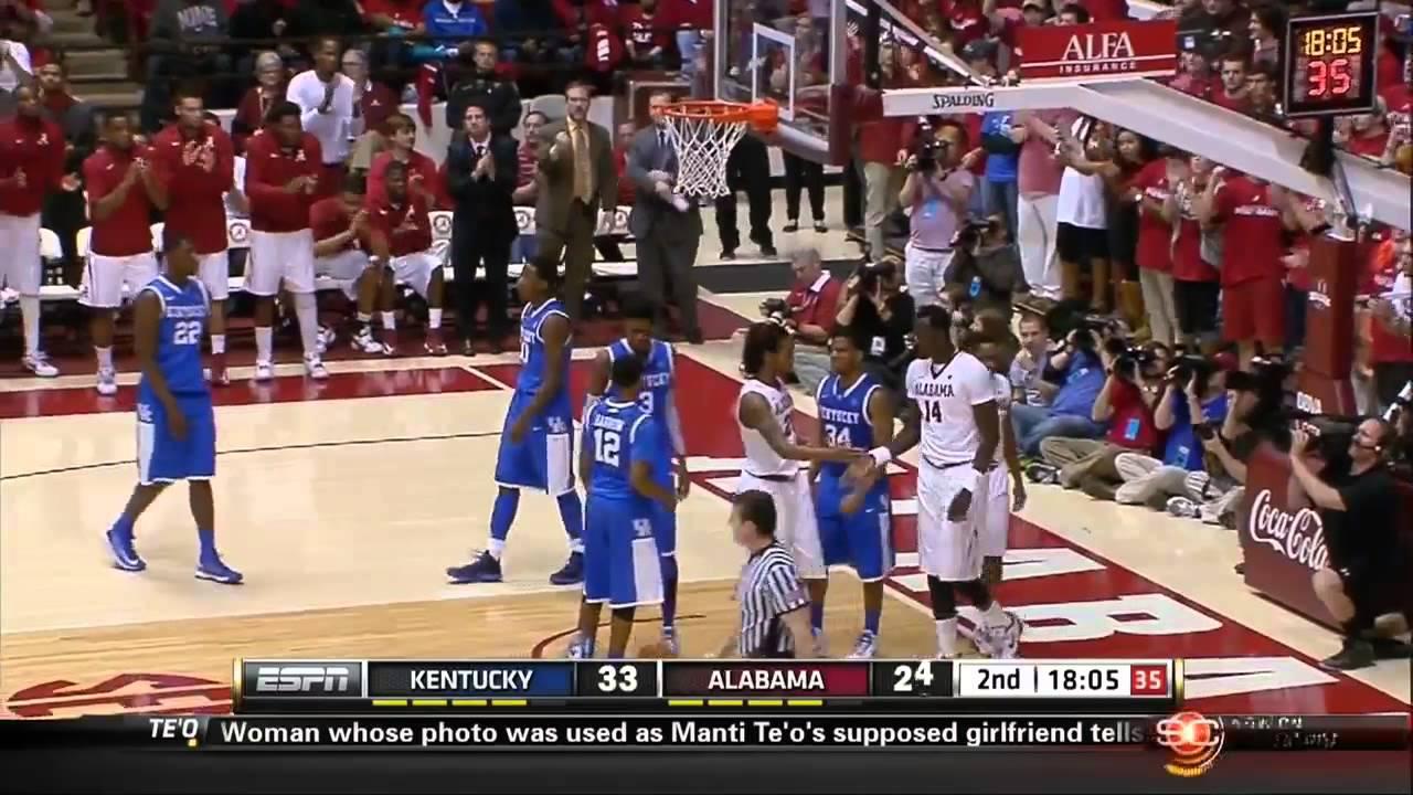 01/22/2013 Kentucky vs Alabama Men's Basketball Highlights ...